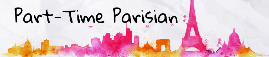 Blog header, colorful Paris skyline